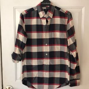 J Crew plaid shirt